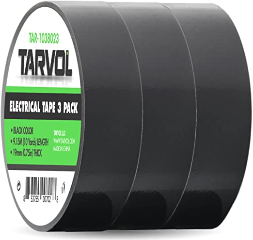 6 Pack 20 ft Electrical Tape Vinyl Cable Insulating Rolls Mechanic and Electric