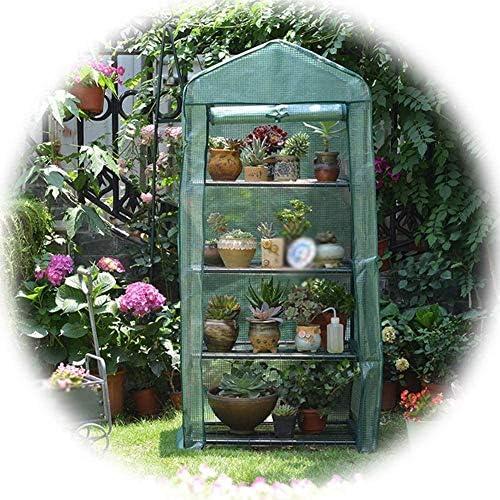 温室 温室 フラワースタンド ビニールハウス ビニールハウス ファスナー付きカバー 園芸 野菜の栽培 防水 簡単に折りたためます 耐寒性 アウトドア PVC ガーデン温室 、3色 (Color, Green-69x49x92cm),Green-69x49x156cm