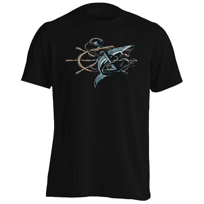 INNOGLEN Capitán de Barco de Anclaje de Pesca de Tiburón Camiseta de los Hombres aa558m 8UURSxYM