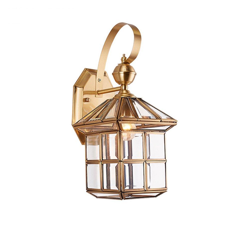 Lampada Da Parete Impermeabile In Rame Per Esterni, Balcone In Metallo (40  20Cm)