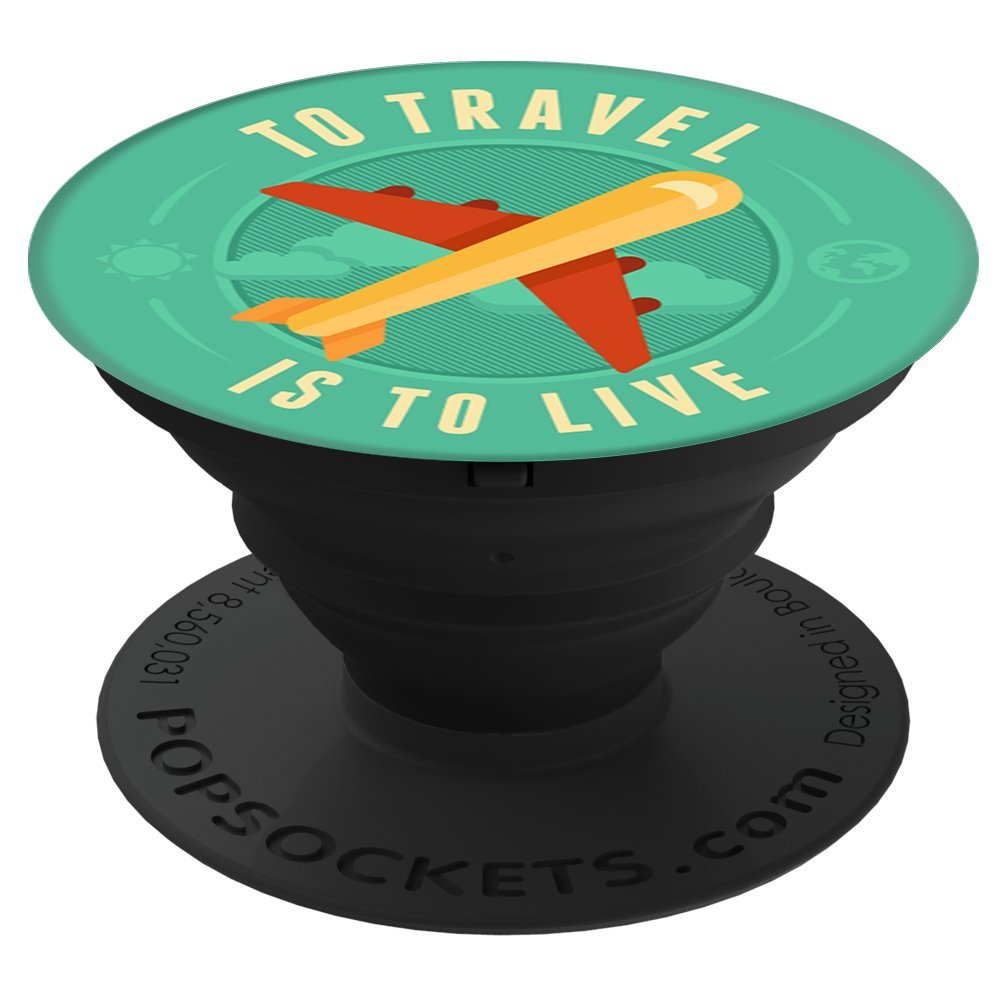 Sassy Southern Charm & Grace Trendy & Unique Travel Adventure Explorer Art on Black for Wireless Phone PS02202 PopSockets Stand for Smartphones and Tablets