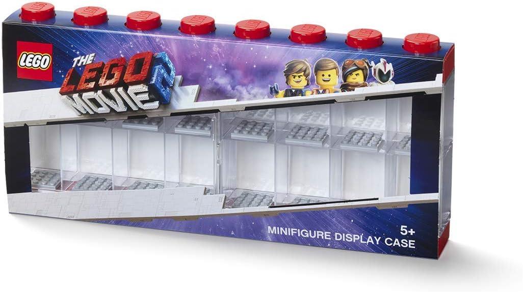 LEGO Minifigure Display Case, Large, Movie Sleeve-red