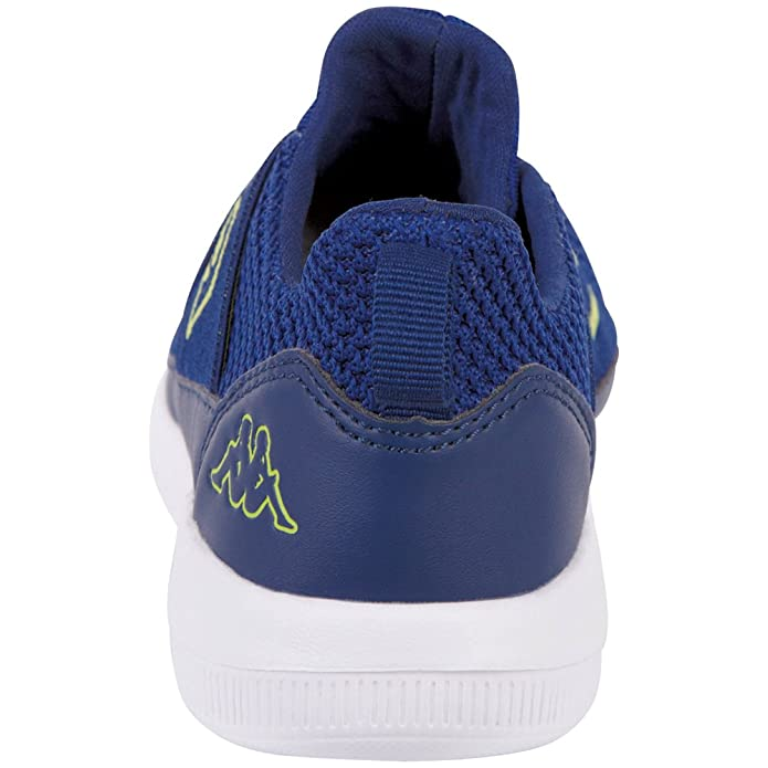 Kappa Faster II Kids, Zapatillas Unisex Niños, Azul (6033 Blue/Lime 6033 Blue/Lime), 28 EU