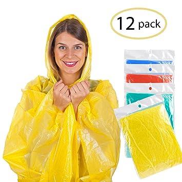 0365e110b6f906 AODOOR Regenponcho mit Kaputze, Poncho Regenmäntel Wasserdicht Unisex- Erwachsene Notfall wiederverwendbar Regen Wasserdicht Poncho