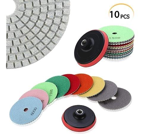 herramienta de pulido h/úmedo de disco de pulido de m/ármol de granito 50 mesh Almohadilla de pulido de diamante redondo de 3 pulgadas