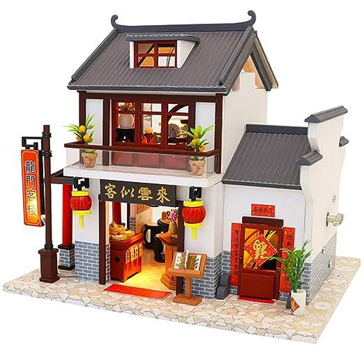 GEPFD-DIY Mini Muebles de Madera para Casas de muñecas, Bricolaje ...