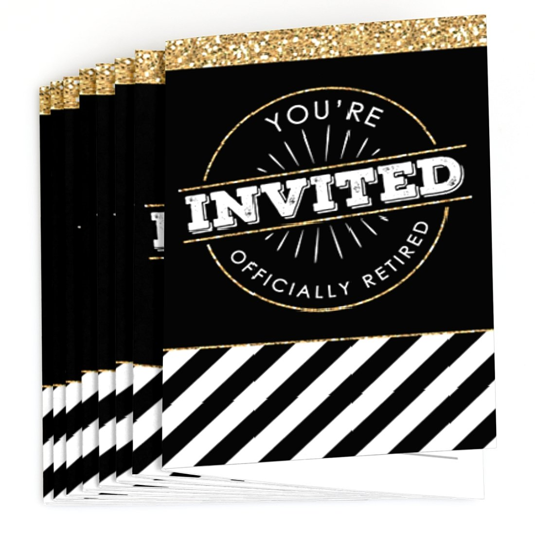 8 Count Fill in Retirement Party Invitations Big Dot of Happiness Happy Retirement