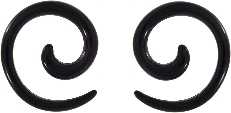 Black Acrylic Taper Ear Stretcher 3mm