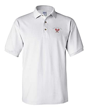 2d15f4f82 Image Unavailable. Image not available for. Color  Custom Polo Shirt Tennis  Racquets A Embroidery Team Name Cotton ...