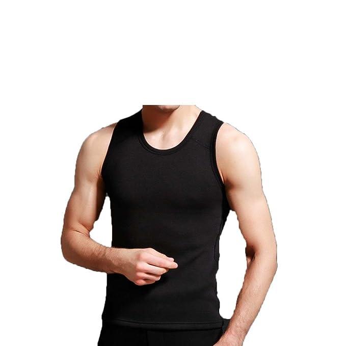 CHLXI Hombres Chaleco Cálido Otoño E Invierno V Collar Ropa Interior Algodón Ropa Interior Más Chaleco