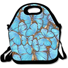 Richard Lyons Abstract Background Tropical Butterflys Morpho Menelaus Water Repellent Go To Work Lunch Bag
