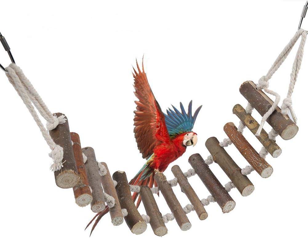 Juguete de ave escalera, Naturals escalera de cuerda aves juguete puente Flexible columpio escalera para entrenamiento Pájaro loros mascotas