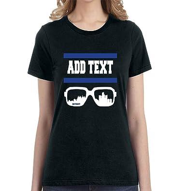 Amazon.com  Detroit - Custom T-Shirt - Add Your Own Text - Football Fan Gear  Women s T-Shirt  Clothing 61b4e4caa0