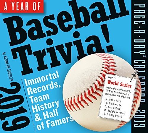 365 Days of Baseball Trivia! Page-A-Day Desk Calendar 2019 [5.5