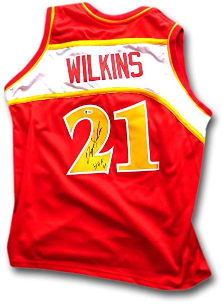 0bc3a142051 ... coupon for dominique wilkins autographed jersey atlanta hawks red jersey  beckett 87e6f 24f17