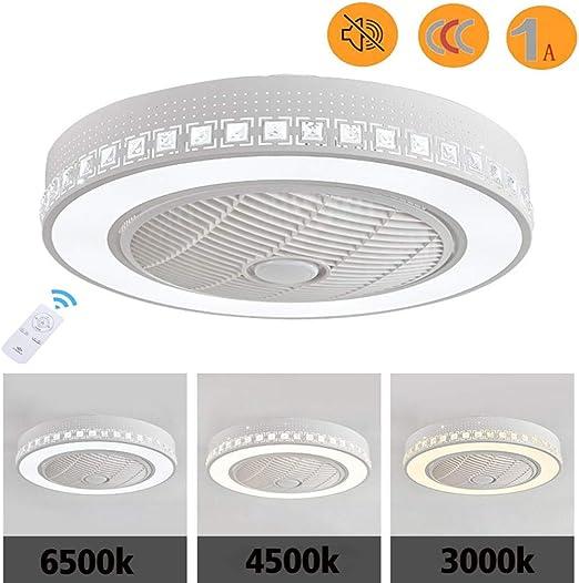 LED Ventilador de Techo con Luz y Mando a Distancia-Motor potente ...