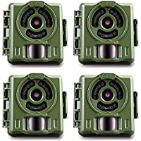 Primos Hunting Bullet Proof 2 8MP Low Glow HD Scouting Game Trail Camera, 4 Pack