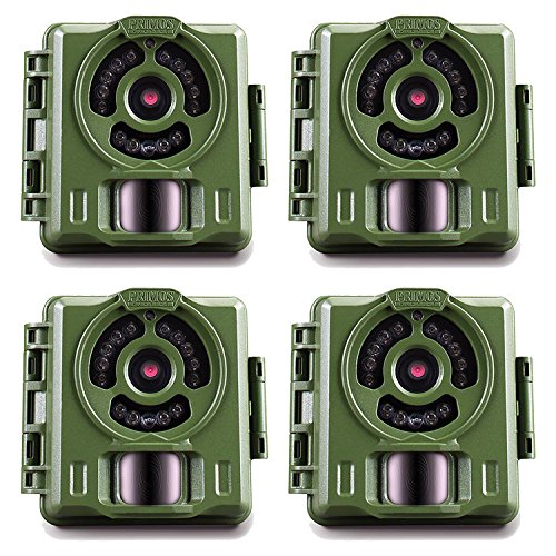 Bulletproof Camera (Primos Hunting Bullet Proof 2 8MP Low Glow HD Scouting Game Trail Camera, 4 Pack)