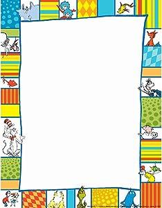 Eureka Back to School Shapes Computer Paper, Dr. Seuss Classroom Supplies, 50 pc