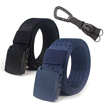 Lalacolorful 2 Pack Cinturón de Nylon Cinturón de Cinturón Táctico para Hombre Cinturón de Cinturón de Cinturón de Cinturón de Correa Militar al Aire ...