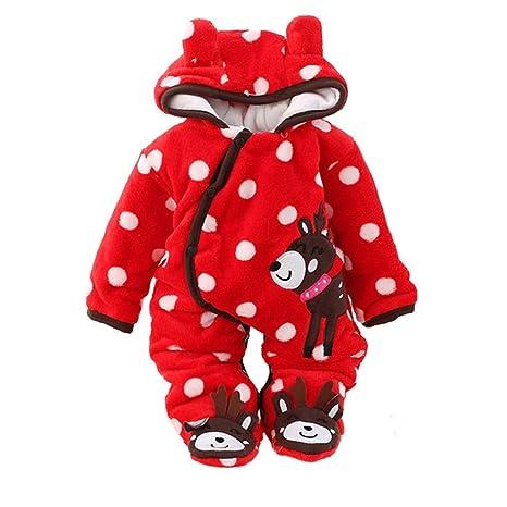 Ropa de bebé Pelele de dibujos animados Animal Impresión Largo Mono cálido invierno otoño ropa por