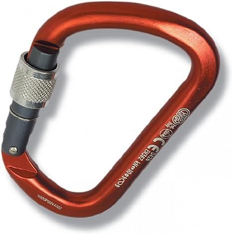 Kong XARGE ALUosquetón Aluminio roscado Cuerpo-anodizado Mosquetón, Adultos Unisex, Rojo (Rojo), Talla Única