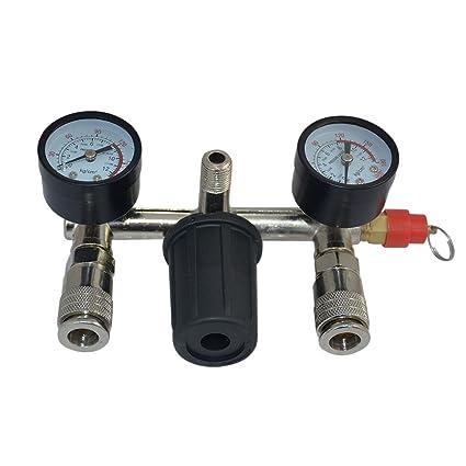 lingjun separador de agua de aire comprimido Reductor de presión Manómetro regulador de presión compresor