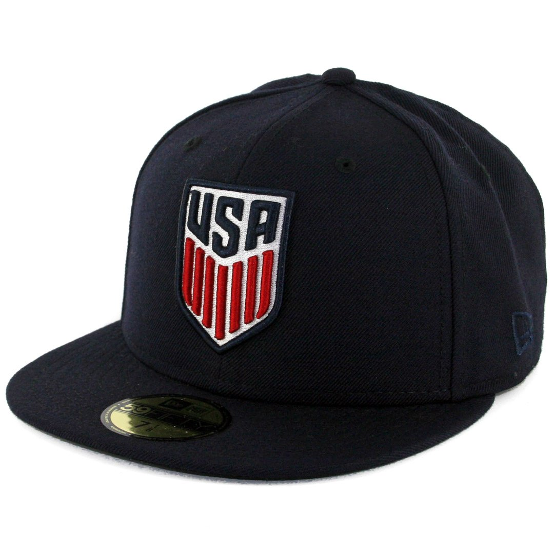 f9d4afe0413ccf Amazon.com: New Era 5950 United States of America USA Fitted Hat (DNV) Mens  FIFA Soccer Cap: Sports & Outdoors