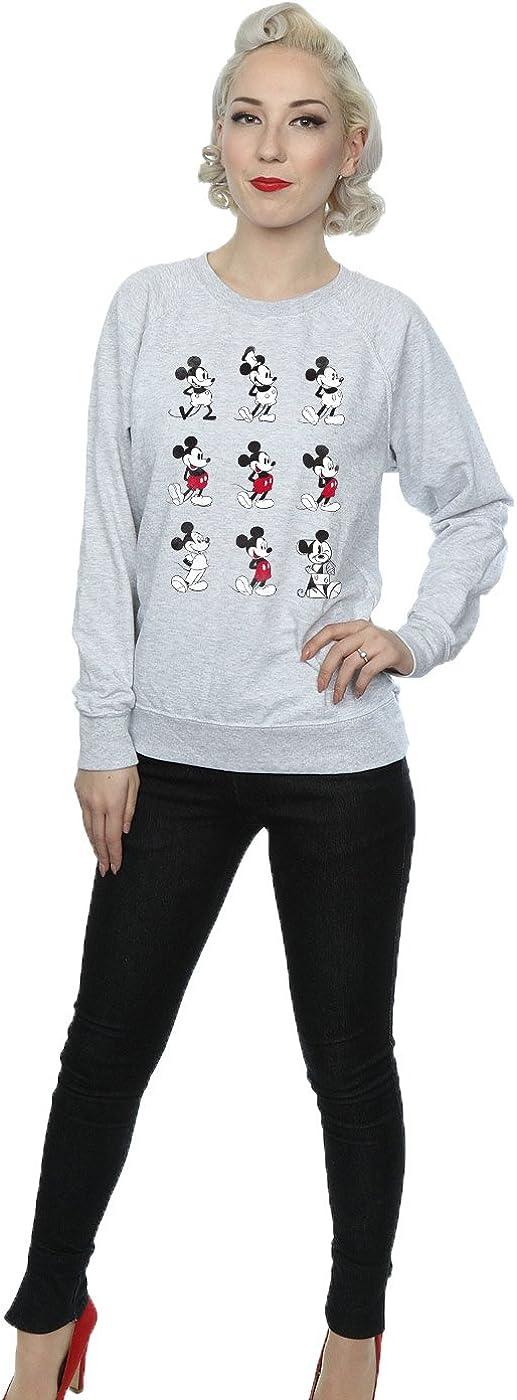 Disney Damen Mickey Mouse Evolution Sweatshirt Heather Grey