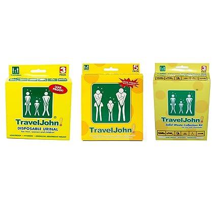 Amazon.com: Travel John Kit de baño de emergencia – 3 ...