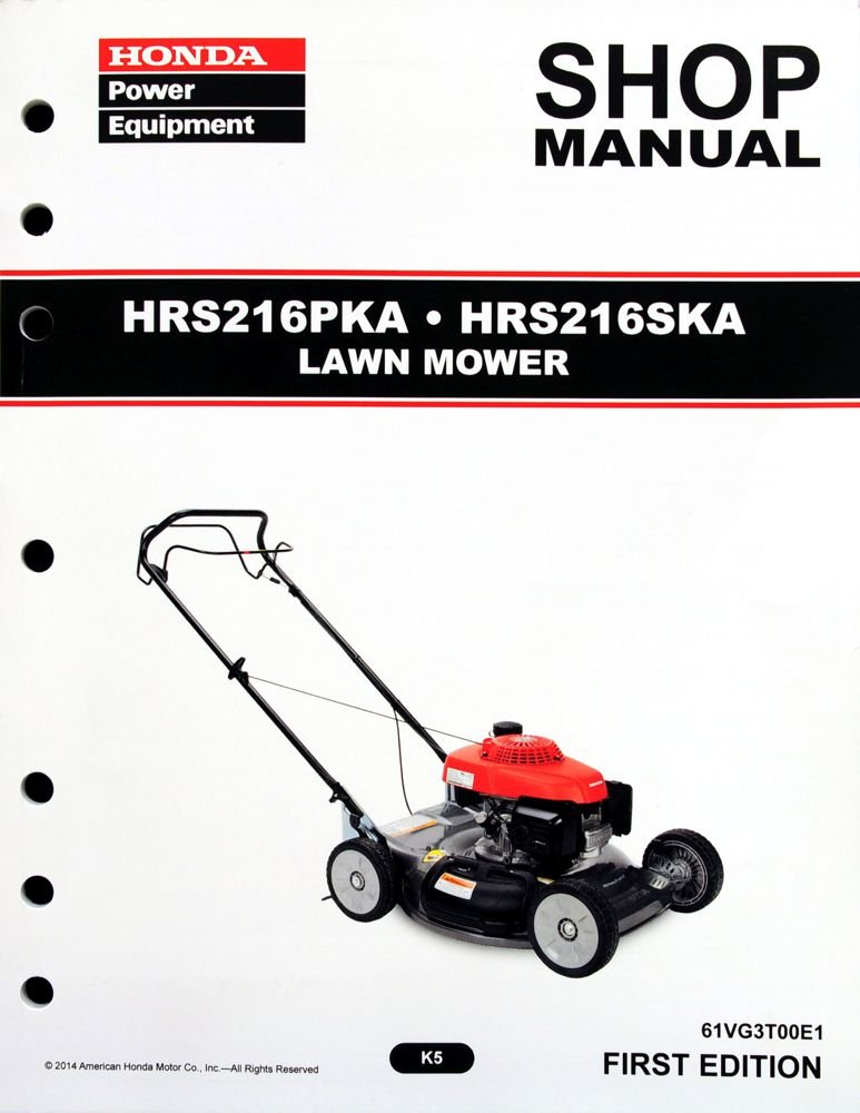 Honda Hrr216vka Lawn Mower Parts Diagram Honda Auto