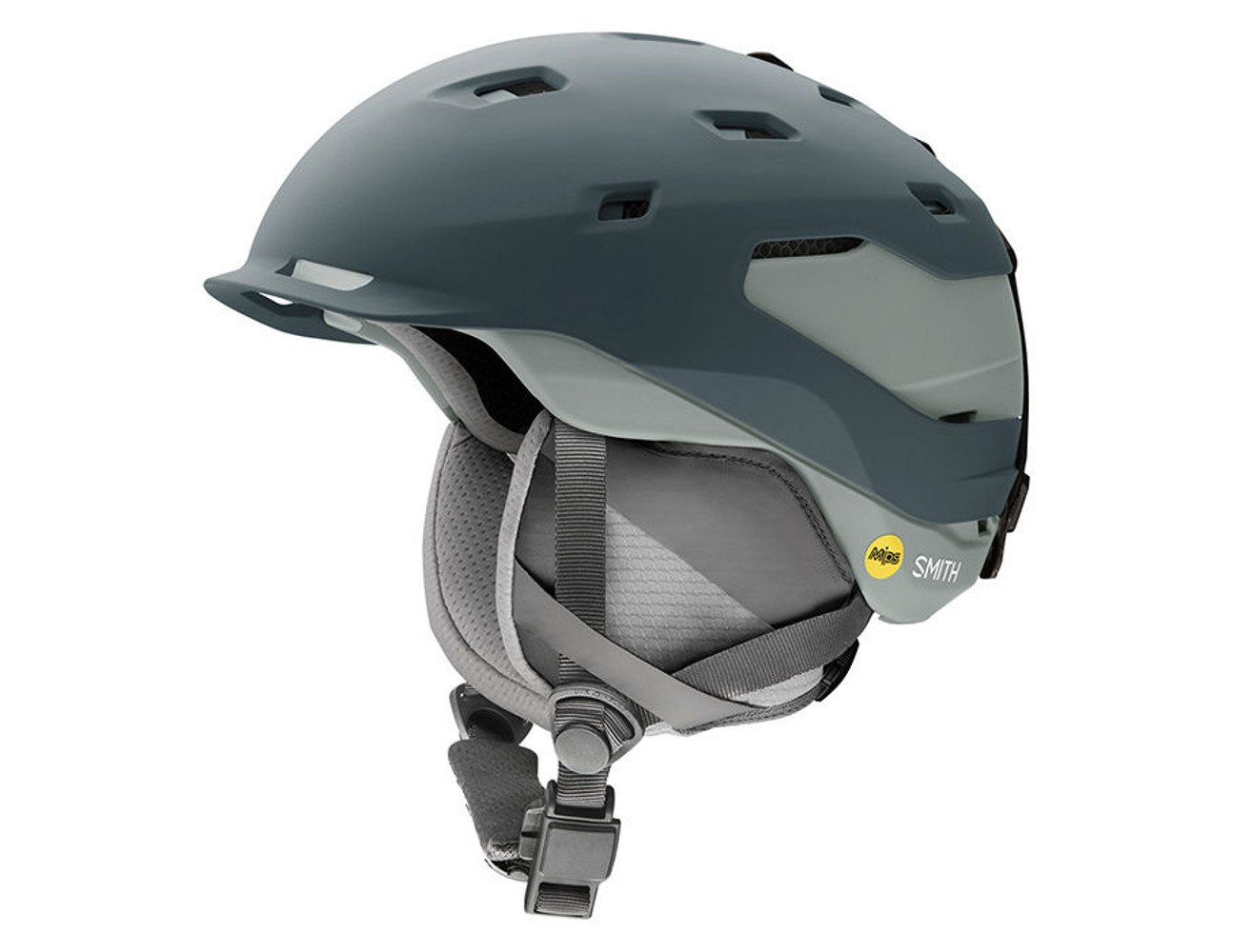 Smith Optics Quantum Adult Mips Ski Snowmobile Helmet - Matte Thunder Gray / Large by Smith Optics