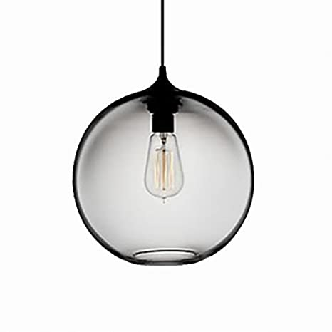 newrays hanging single glass pendant lights kitchen island lighting rh amazon com clear glass kitchen pendant lights glass pendant lights kitchen uk