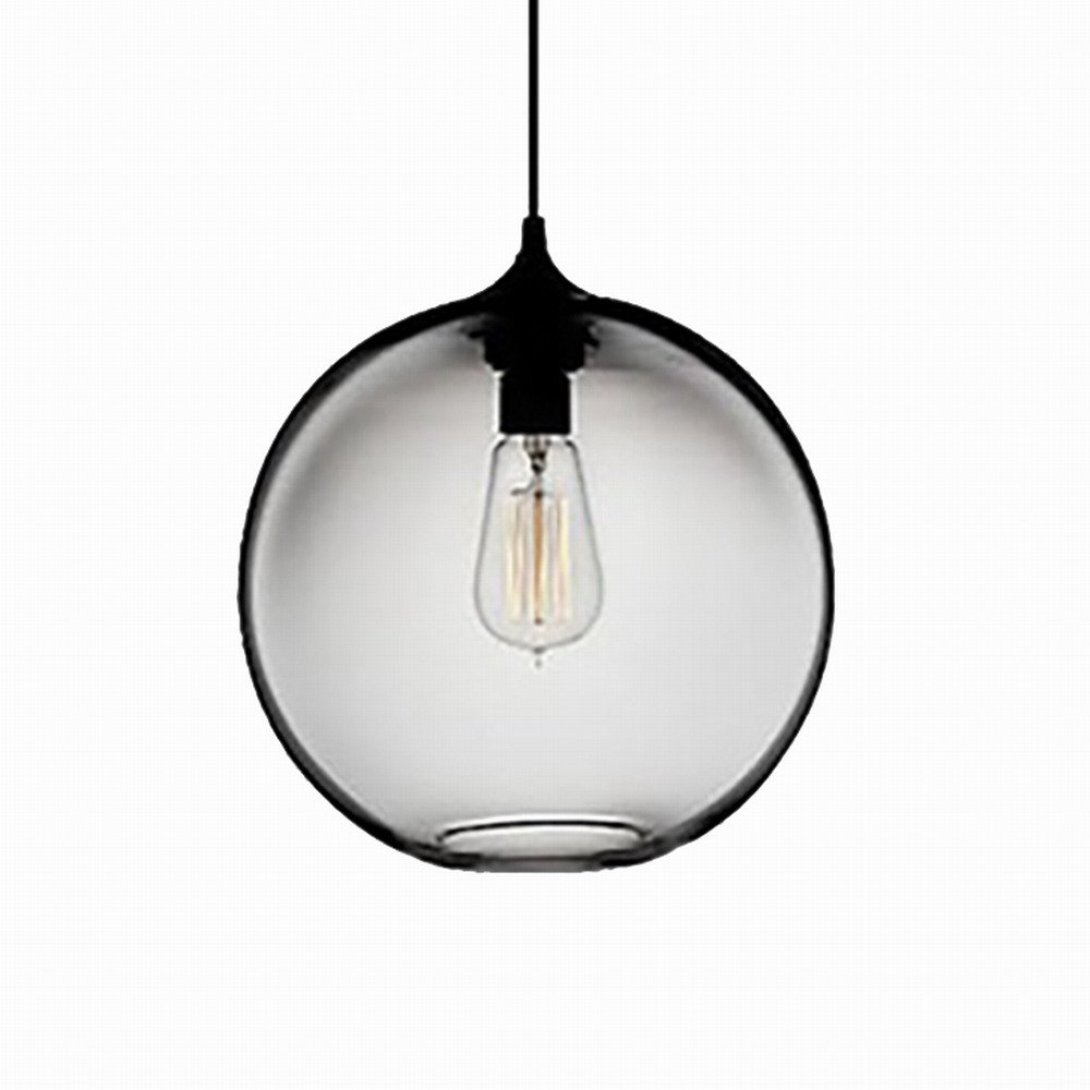 Newrays Hanging Glass Globe Pendant Lighting Island Fixtures(Clear)