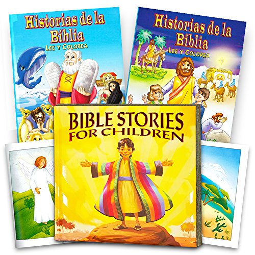 Bible Story Book Super Set for Kids Toddlers -- Deluxe Illustrated First Bible, Bible Coloring Book and Stickers (Christian Gifts for Kids) (Classic Edition)