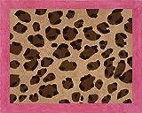 Sweet Jojo Designs Cheetah Girl Pink and Brown Accent Floor Rug