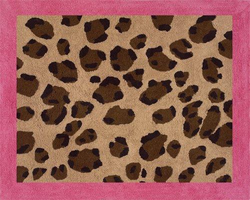Sweet Jojo Designs Cheetah Girl Pink and Brown Accent Floor Rug by Sweet Jojo Designs