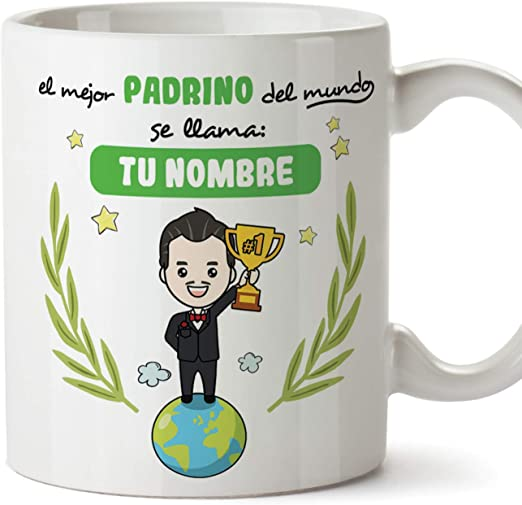 Taza regalo original de café y desayuno MUGFFINS El Mejor Padrino del Mundo