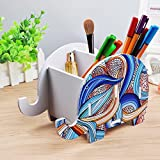 note 4 case wood - Elephant Shape Cute Cell Phone Mounts Desk Pen Container, Creative Tablet Smartphone Phone Stand for iPhone Samsung Sony Huawei, Brush Pot-HomRing