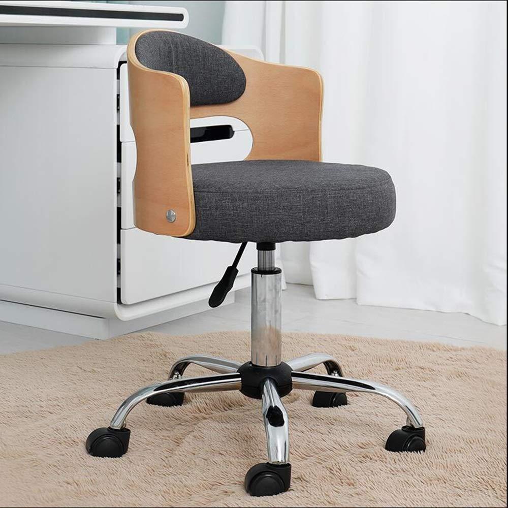 JIEER-C stol svängbar stol kontorsstol, justerbar lyftrotation verkställande stol ergonomi hushåll tyg lärande stol för studier studentrum, grå Svart