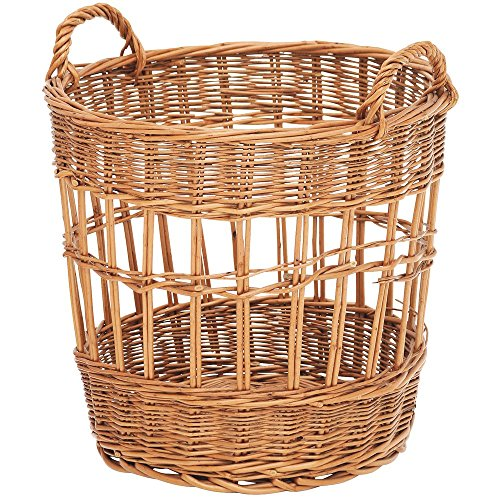 Baguette Basket with Handles Round Natural Willow - 17