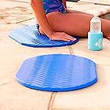 Texas Recreation Super Soft Oval Foam Cushion, Blue 2-Pack