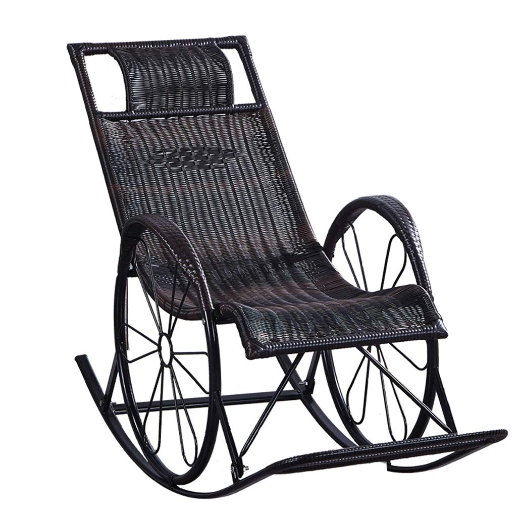 Amazon.com: Black Zero Gravity Rattan Chairs Sunbed ...