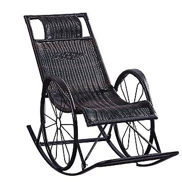 Amazon.com: Black Zero Gravity Rattan Chairs Sunbed ...