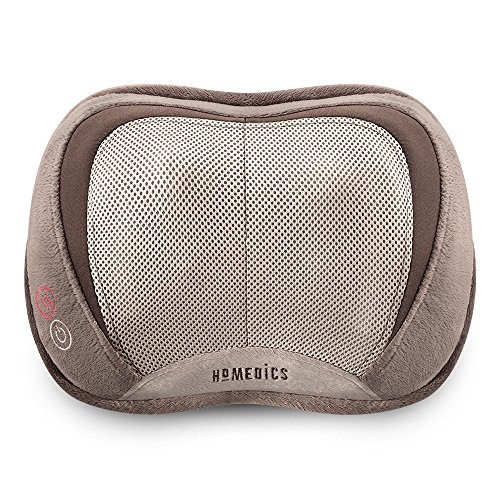 Homedics 3D Shiatsu & Vibration Massage Pillow with Heat (Back Massager For Chair Homedics)
