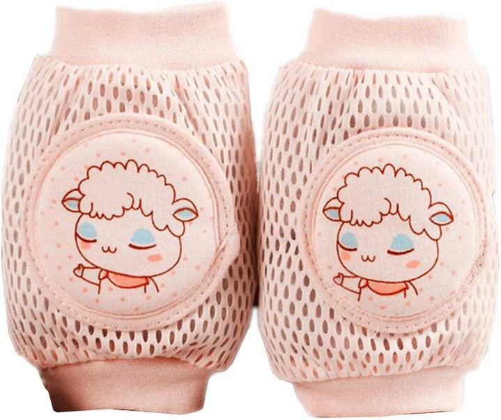 1 Pair Baby Knee Pads for Crawling Baby Toddlers Breathable Anti-Slip Elbow Pads Kneepads Safety Protector Suitable for 0-36 Months by SamGreatWorld