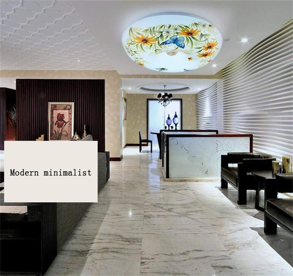 Haiyao シーリングランプ、ホームリビングルームシーリングランプ、モダン、ミニマリストのラウンジベッドルームキッチン細い正方形の天井LED、モダンなラウンドホテルのランプランプ (Color : White Light-35cm) B07QPF7FYY White Light-35cm