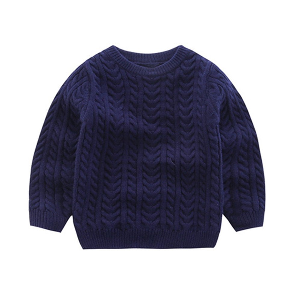 Mrsrui Boy Girl Kid Sweaters School Uniform Knitted Long Sleeves Clothes Tops by Mrsrui (Image #1)