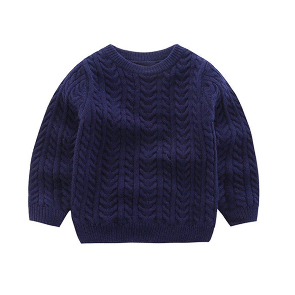 Mrsrui Boy Girl Kid Sweaters School Uniform Knitted Long Sleeves Clothes Tops