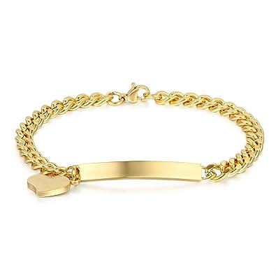 Schmuck gold  JewelryWe Schmuck Edelstahl Armkette Damenarmband Charmsarmband ...